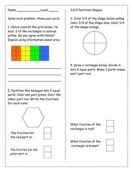 3rd Grade *GEOMETRY* Common Core Worksheets by Amber ...