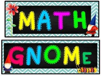 3rd Grade GNOMe Math Wall