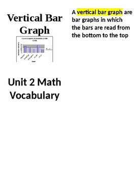 3rd Grade - GO MATH Chapter 2 Vocabulary
