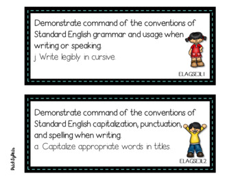 3rd Grade GSE Georgia Standards of Excellence Posters Bundle -Kids Theme