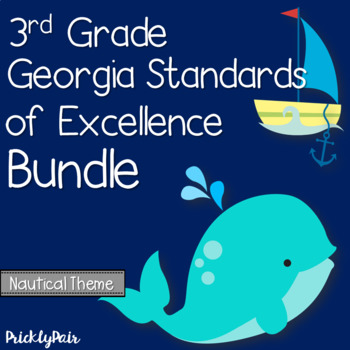 3rd Grade GSE Georgia Standards of Excellence Posters Bundle -Nautical