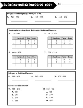 3rd Grade GSE Math Assessments for the YEAR (Georgia Standards of Excellence)
