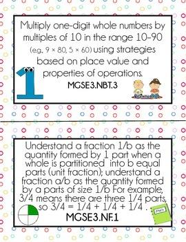 3rd Grade Math GSE (Standards for posting)