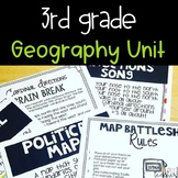 3rd Grade Geography Mapping Unit