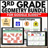 3rd Grade Geometry Bundle {3.G.1 and 3.G.2} Google Classroom