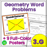 Geometry Word Problems and Posters 3rd Grade
