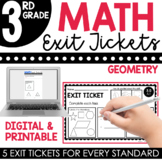 3rd Grade Geometry Exit Tickets (Exit Slips)