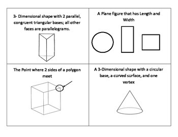 3rd Grade Geometry Flash Cards
