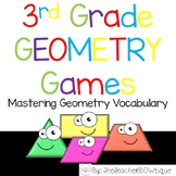 3rd Grade Geometry Games: 8 Print and Go Games to Master V