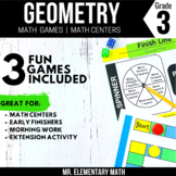 3rd Grade Geometry Games and Centers   Shape Attributes
