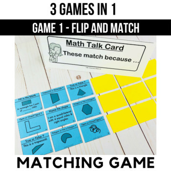 3rd Grade Geometry Games and Centers | Shape Attributes
