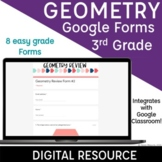 3rd Grade Geometry Google Forms Spiral Review | Distance Learning