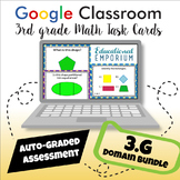 ⭐ GOOGLE CLASSROOM ⭐ 3rd Grade Geometry Task Cards BUNDLE