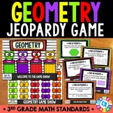 3rd Grade Geometry Jeopardy Game Show {3.G.1, 3.G.2} - Polygons, Quadrilaterals