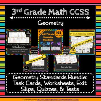3rd Grade Geometry Math Bundle: 3rd Grade Geometry Curriculum MEGA Bundle