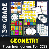 Geometry 3rd Grade: 7 math games for Common Core