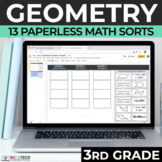 3rd Grade Geometry Math Sorts for Google Slides - Distance
