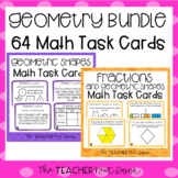 3rd Grade Geometry Task Cards Bundle | Geometry Math Centers | Geometry Game