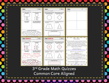 3rd Grade Geometry Quizzes: 3rd Grade Math Quizzes, Geometry Quiz