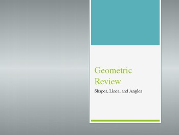 3rd Grade Geometry Review