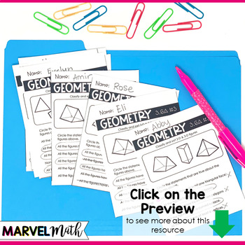 3rd Grade Geometry TEKS Exit Slips * Exit Tickets