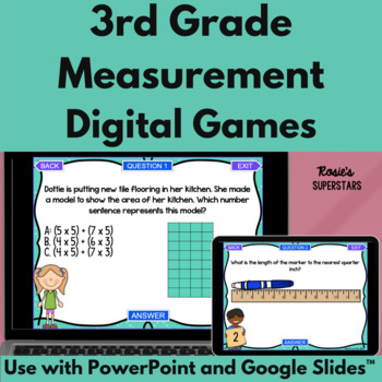 3rd Grade Measurement Test Prep PowerPoint Games: 2 Ready to Play Games