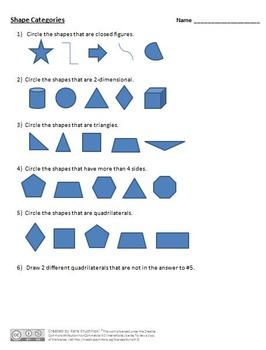 3rd Grade Geometry Unit/Shape Unit