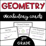 3rd Grade Geometry Vocabulary Cards