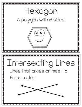 3rd Grade Geometry Vocabulary Cards