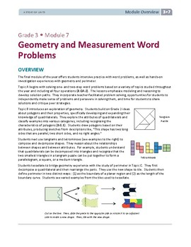 3rd Grade Geometry Word Problems Lessons, Worksheets, and Exit Tickets