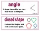 3rd Grade Geometry Word Wall
