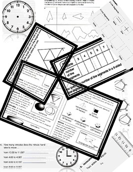 4th Grade Geometry Activity Worksheets