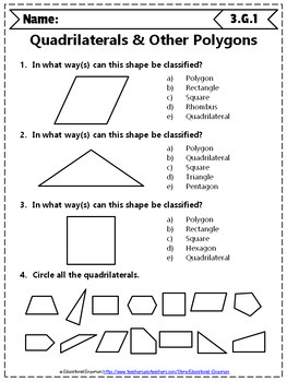 3rd Grade Geometry Worksheets: 3rd Grade Math Worksheets, Geometry