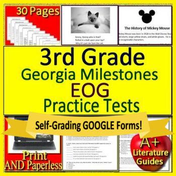 3rd Grade Georgia Milestones Test Prep Eog Practice Tests For Gmas