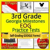 3rd Grade Georgia Milestones Test Prep Reading EOG GMAS SELF-GRADING GOOGLE FORM