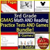 3rd Grade Georgia Milestones Test Prep Math and Reading GMAS Bundle SELF-GRADING