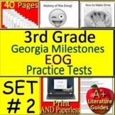 3rd Grade Georgia Milestones Test Prep EOG Practice Tests for GMAS Language Arts
