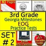 3rd Grade Georgia Milestones Test Prep SELF-GRADING GOOGLE GMAS Language Arts