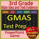 3rd Grade Georgia Milestones Test Prep Main Idea and Text Evidence Game - GMAS