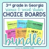 3rd Grade Georgia Science and Social Studies Choice Boards (aligned to GSE)