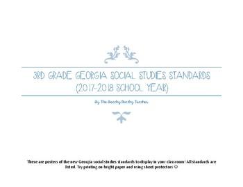 3rd Grade Georgia Social Studies Standard Posters