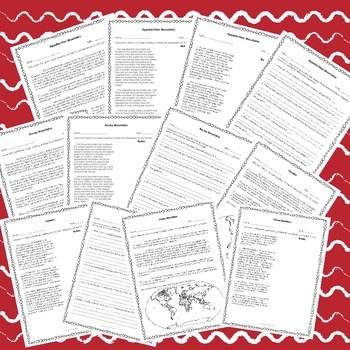 3rd Grade Georgia Social Studies - US Topographical Features Comprehensive Unit