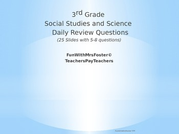 Science daily review teaching resources teachers pay teachers 3rd grade georgia social studies and science spiral review fandeluxe Images