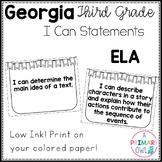 3rd Grade Georgia Standards ELA: I Can Statements