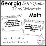 3rd Grade Georgia Standards Math: I Can Statements