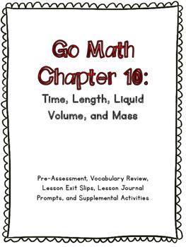 3rd Grade Go Math Chapter 10 Supplemental Materials