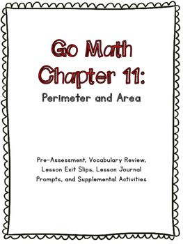 3rd Grade Go Math Chapter 11 Supplemental Materials