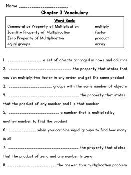 3rd Grade Go Math Chapter 3 Supplemental Materials