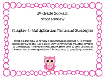 3rd Grade Go Math Chapter 4 Scoot Review