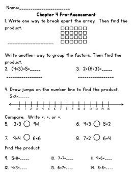 3rd Grade Go Math Chapter 4 Supplemental Materials